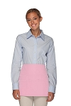 Style 106 Professional SIX Pocket Waist Aprons - 6 Pockets! - Pink