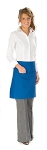 Style 110 Professional Half Bistro Apron with Center-Divided Pocket