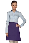 Style 110 Professional Half Bistro Apron with Center-Divided Pocket - Purple