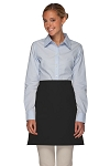 Style 110NP Professional No Pocket Half Bistro Apron - Black