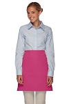 Style 110NP Professional No Pocket Half Bistro Apron - Hot Pink