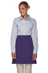 Style 110NP Professional No Pocket Half Bistro Apron - Purple