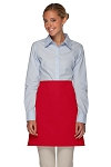 Style 110NP Professional No Pocket Half Bistro Apron - Red