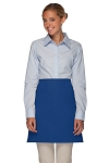 Style 110NP Professional No Pocket Half Bistro Apron - Royal Blue