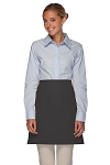 Style 110NP Professional No Pocket Half Bistro Apron - Charcoal Gray