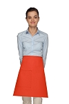 Style 111 Professional One Pocket Half Bistro Apron - Orange