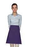 Style 111 Professional One Pocket Half Bistro Apron - Purple