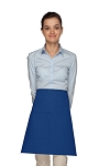 Style 111 Professional One Pocket Half Bistro Apron - Royal Blue