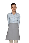 Style 111 Professional One Pocket Half Bistro Apron - Silver Gray