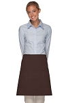 Style 115 Professional Two Patch Pocket Half Bistro Apron - Brown