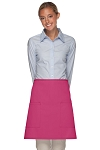 Style 115 Professional Two Patch Pocket Half Bistro Apron - Hot Pink