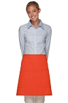 Style 115 Professional Two Patch Pocket Half Bistro Apron - Orange