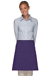 Style 115 Professional Two Patch Pocket Half Bistro Apron - Purple