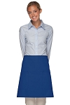 Style 115 Professional Two Patch Pocket Half Bistro Apron - Royal Blue