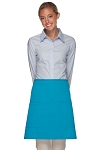 Style 115 Professional Two Patch Pocket Half Bistro Apron - Turquoise