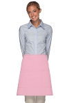 Style 115 Professional Two Patch Pocket Half Bistro Apron - Pink