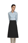 Style 118 Professional One Pocket 3/4 Bistro Apron - Black