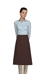 Style 118 Professional One Pocket 3/4 Bistro Apron - Brown
