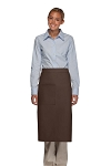 Style 120 Professional One Pocket Full Length Bistro Apron - Brown