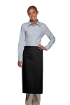 Style 120I Professional One Inset Pocket Full Length Bistro Apron - Black
