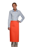 Style 120I Professional One Inset Pocket Full Length Bistro Apron - Orange