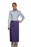 Style 120I Professional One Inset Pocket Full Length Bistro Apron - Purple