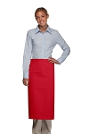 Style 120I Professional One Inset Pocket Full Length Bistro Apron - Red