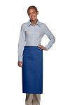 Style 120I Professional One Inset Pocket Full Length Bistro Apron - Royal Blue
