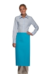 Style 120I Professional One Inset Pocket Full Length Bistro Apron - Turquoise
