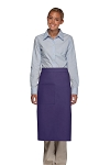 Style 120 Professional One Pocket Full Length Bistro Apron - Purple