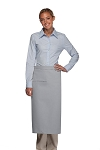 Style 120I Professional One Inset Pocket Full Length Bistro Apron - Silver Gray