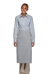 Style 120 Professional One Pocket Full Length Bistro Apron - Silver Gray