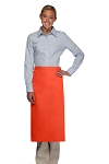 Style 120NP Professional No Pocket Full Length Bistro Apron - Orange