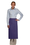 Style 120NP Professional No Pocket Full Length Bistro Apron - Purple