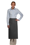 Style 120NP Professional No Pocket Full Length Bistro Apron - Charcoal Gray