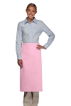 Style 120NP Professional No Pocket Full Length Bistro Apron - Pink