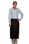 Style 122 Professional Two Pocket Full Length Bistro Apron - Black