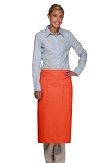 Style 122 Professional Two Pocket Full Length Bistro Apron - Orange