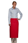 Style 122 Professional Two Pocket Full Length Bistro Apron - Red