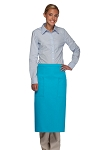 Style 122 Professional Two Pocket Full Length Bistro Apron - Turquoise