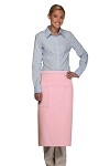 Style 122 Professional Two Pocket Full Length Bistro Apron - Pink