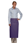 OVERSTOCK Style 122 Professional Two Pocket Full Length Bistro Apron - Purple