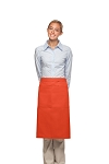 Style 124 Professional Two Large Pocket 3/4 Bistro Apron - Orange