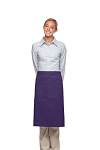 Style 124 Professional Two Large Pocket 3/4 Bistro Apron - Purple