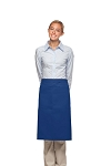 Style 124 Professional Two Large Pocket 3/4 Bistro Apron - Royal Blue
