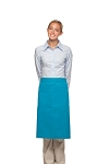 Style 124 Professional Two Large Pocket 3/4 Bistro Apron - Turquoise