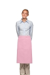 Style 124 Professional Two Large Pocket 3/4 Bistro Apron - Pink