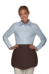Style 130 Professional Two Pocket Scalloped Waist Aprons - Brown