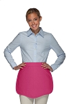 Style 130 Professional Two Pocket Scalloped Waist Aprons - Hot Pink
