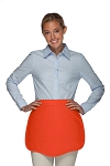 Style 130 Professional Two Pocket Scalloped Waist Aprons - Orange